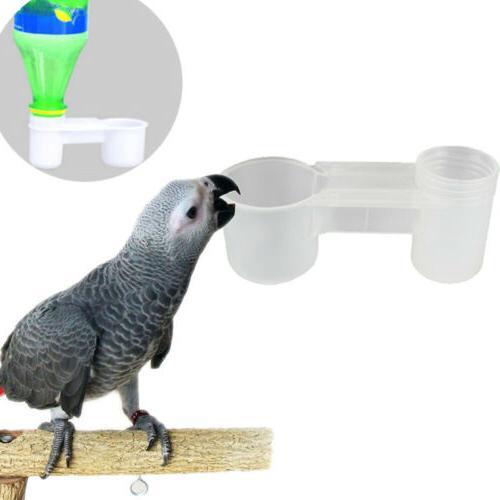 5X Plastic Bird Dove Feeder Food Drinker Water Bottle SALE