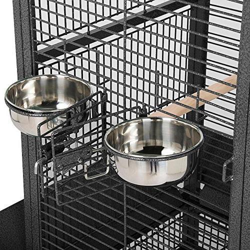 """Yaheetech 61"""" Black Bird Cage Parrot Cockatiel Finch"""