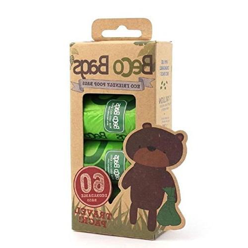 BecoThings Biodegradable Poop Bags 60 per pack