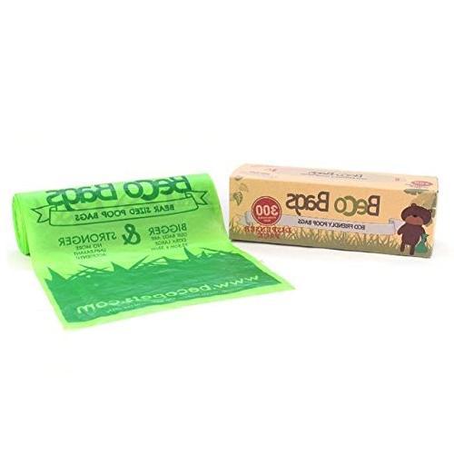BecoThings Biodegradable Poop Bags Dispenser Roll 300 per pa