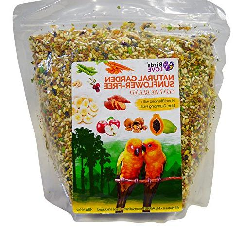 Birds LOVE All Natural Garden Blend Bird Food for Conures -
