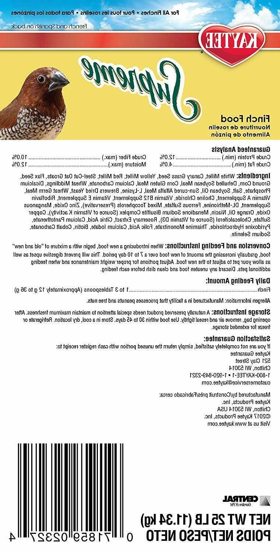 Kaytee Food Bird Food For Parakeets 25LB