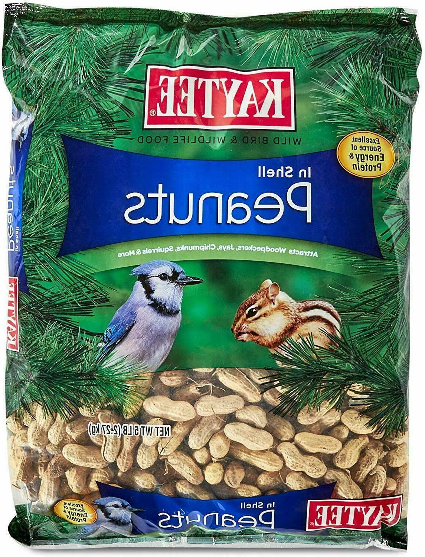 Bird Food Kaytee Peanuts In Shell  Wild Birds Treats  5-Poun