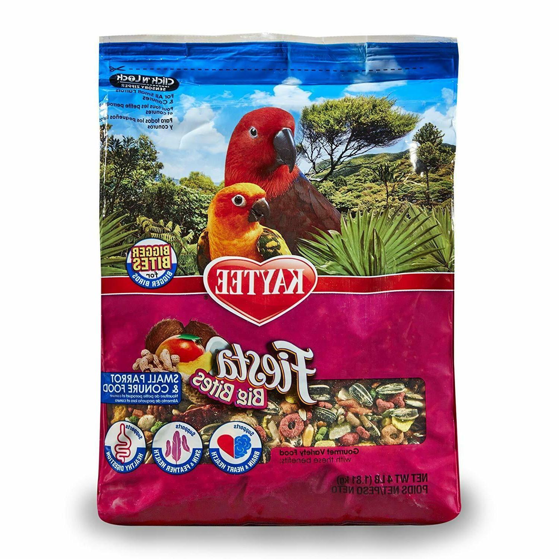 Bird Parrot Pet Food Kaytee Fiesta Big Bites Vitamins Minera