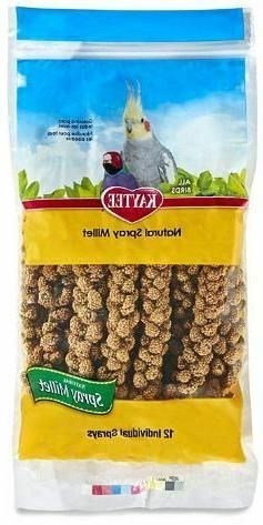 Bird's Spray Millet, 12-Count 1-Pack, Natural, Fast Free Shi