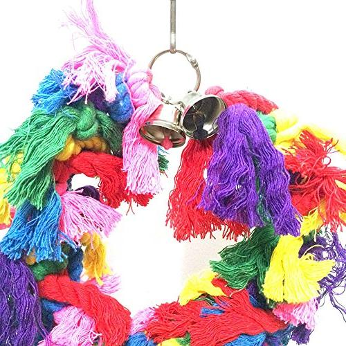 Hisoul Preening Bells Colorful Hanging Birds Interactive Smart Game Pet Toy Small Medium