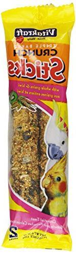 Vitakraft Cockatiel Whole Grains & Kiwi Treat Sticks 2 Pack,