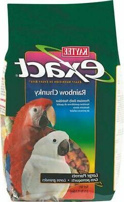 Exact Rainbow Chunky Food For Parrots