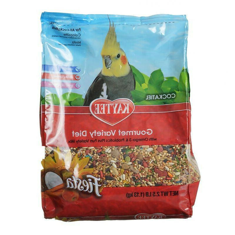 fiesta cockatiel gourmet variety diet bird food