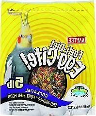 Kaytee Forti Diet Egg-Cite Bird Food For Cockatiels, 5-Pound