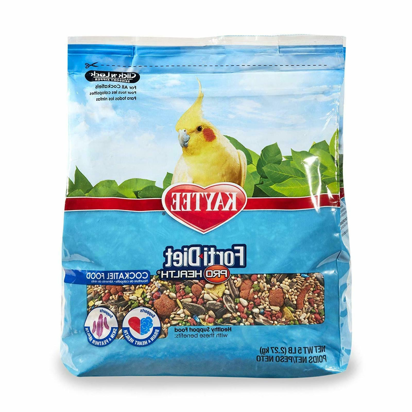 Kaytee Forti Diet Pro Health Bird Food For Cockatiels 5 Ib S
