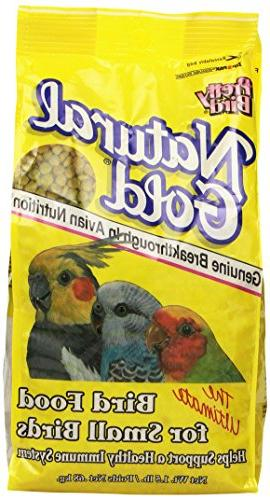 Pretty Bird Natural Gold Medium Bird Food, 2.6 Lb.