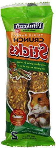 Vitakraft Hamster Whole Grains & Honey Treat Sticks Glazed w
