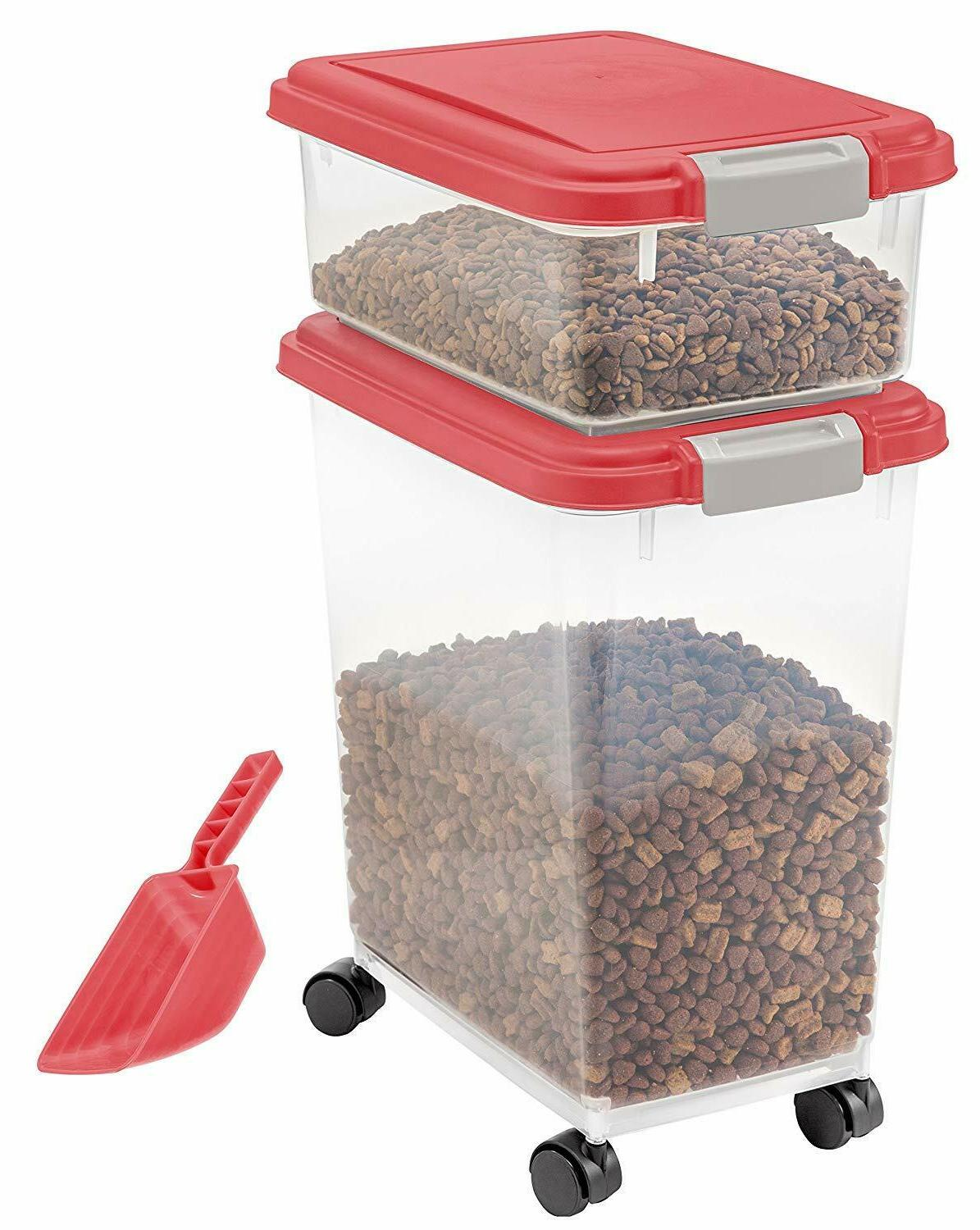 Large Food Container 3-Piece Cat Dog Box
