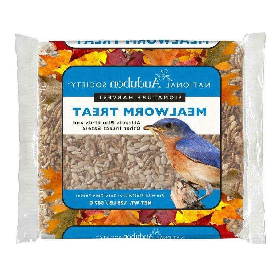 WILD BIRD FOOD MEALWORM Treat Cake 20 Oz Bluebird Platform S