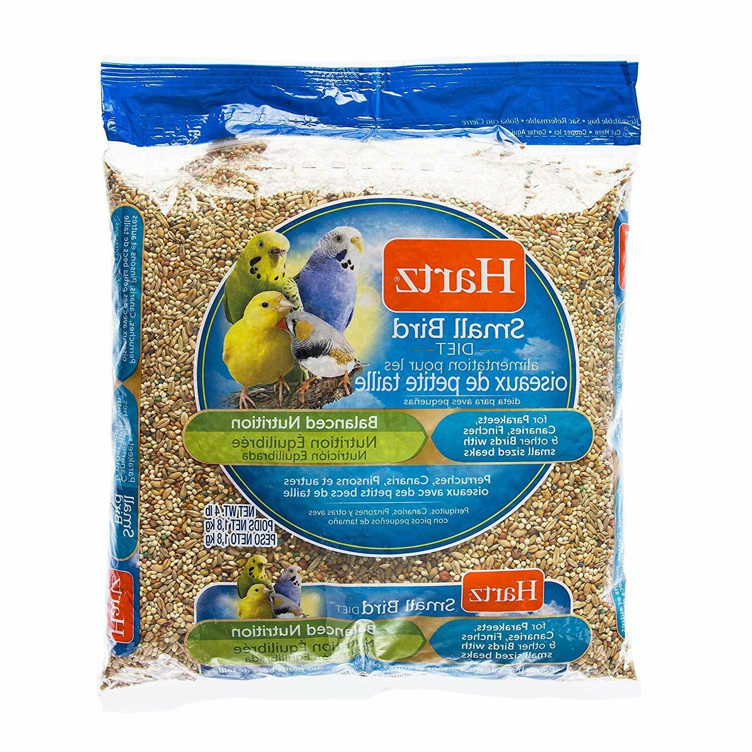 Hartz Parakeet, Canary, Finch Small Bird Food - 4 Pounds Hea