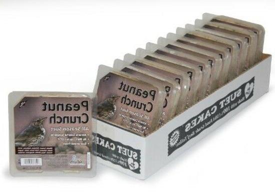 peanut crunch suet cakes 12 pack bird