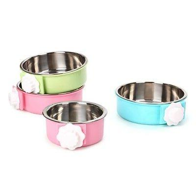 Pet Cat Stainless Steel Bowl Cage