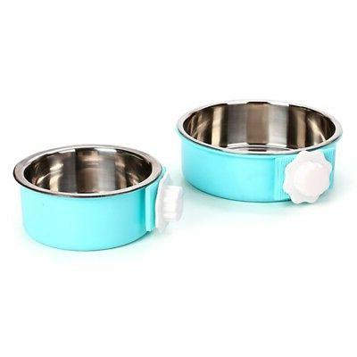 Pet Cat Stainless Steel Food Bowl Puppy Bird Cage