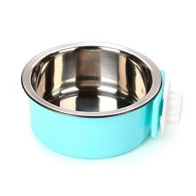Pet Steel Hanging Water Bowl Puppy Crate Cage Feeder