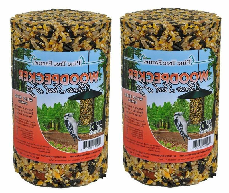 pine tree farm woodpecker classic seed log