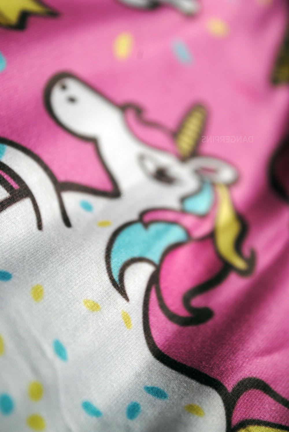 Pink Donut Unicorns soft leggings - One size yoga kawaii food