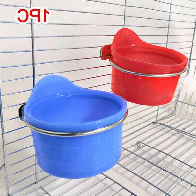 Stainless Steel Budgies Water Container Food Bowl Bird Feedi