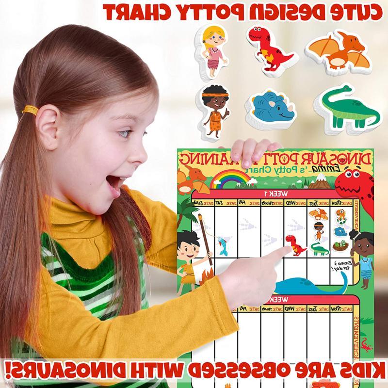 Potty Training Chart Toddlers Dinosaur Sticker Chart Reward