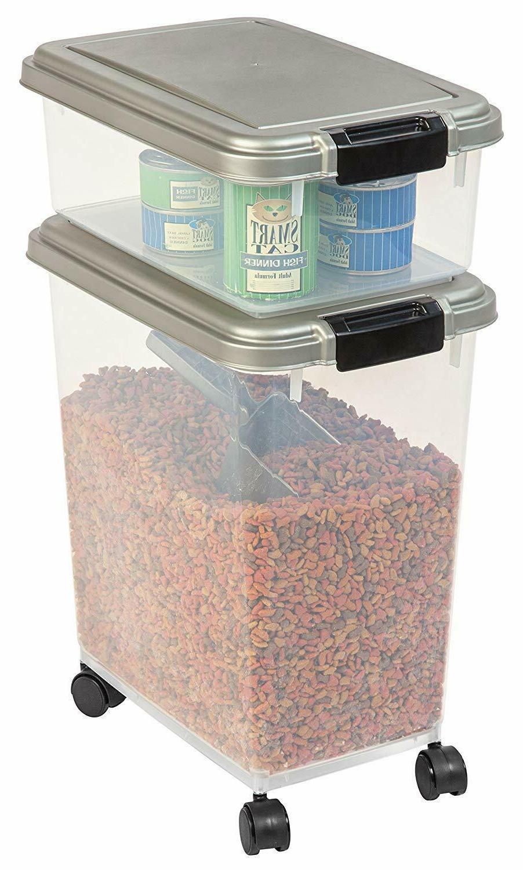 Premium Storage Container Rolling Treat Cat Combo New