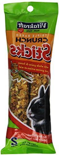 Vitakraft Rabbit Whole Grains & Honey Treat Sticks 2 Pack, 4