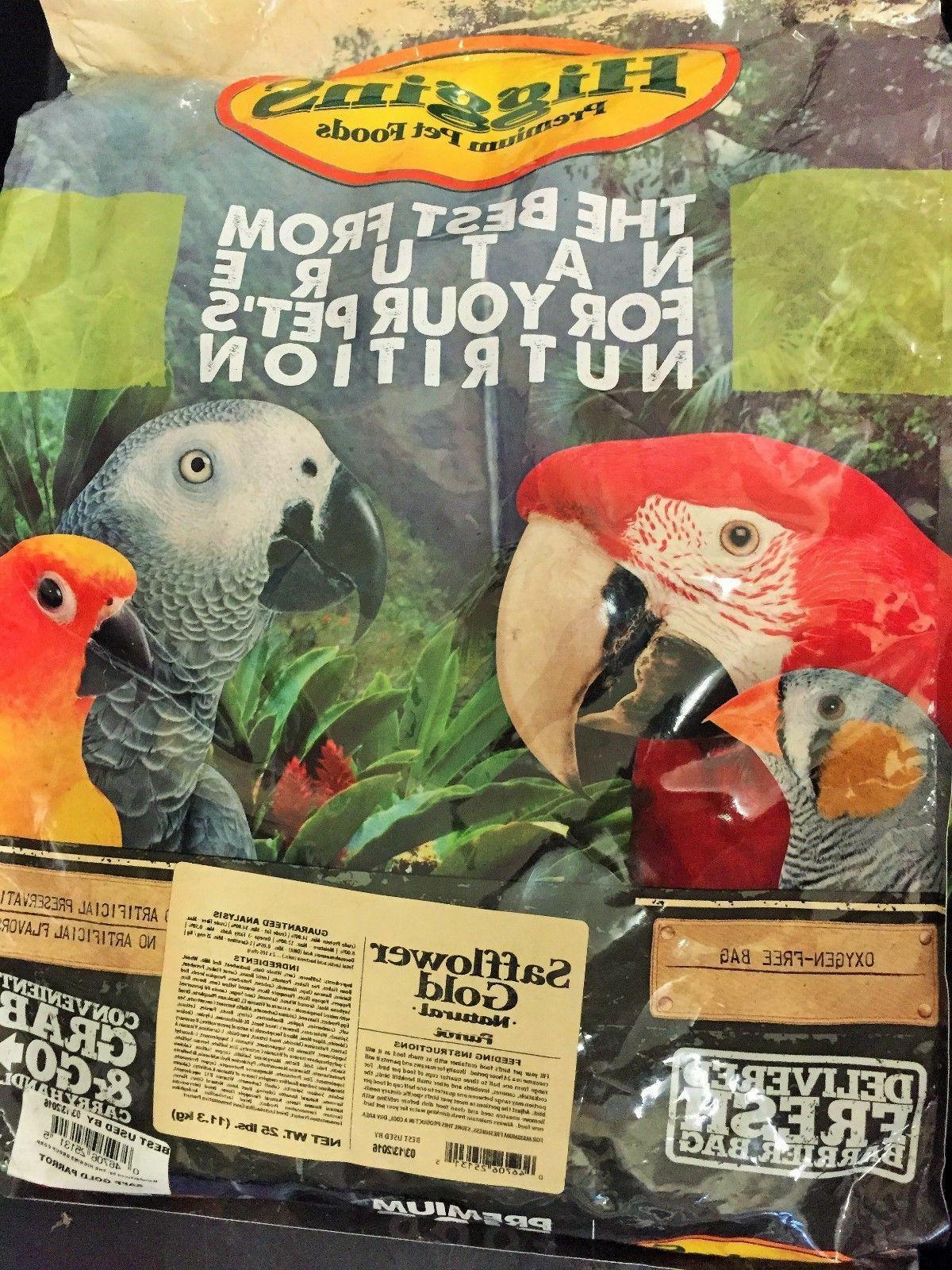 Higgins Safflower Parrot Gold Fruit Mix Food