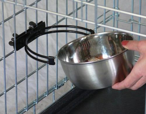 MidWest Homes Snap'y Steel Food Bowl, qt. Dogs Cats