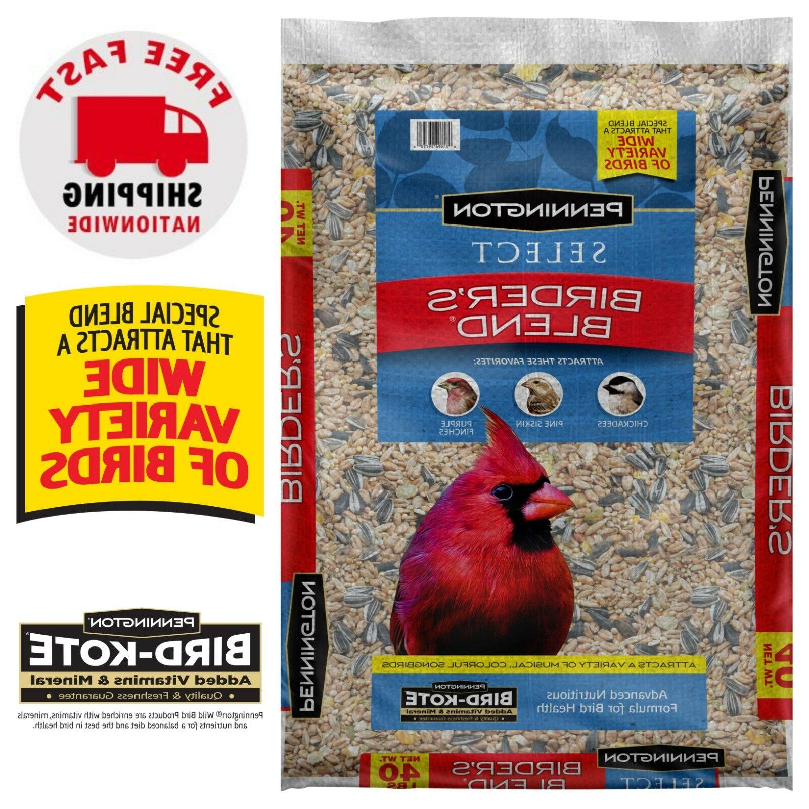 Wild Bird Food Seed Mix Birder's Blend Bulk 40lb Bag Feed Pe