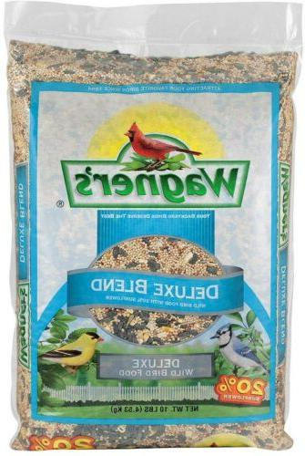 Wild Bird Seed Food Feed Deluxe Blend Songbird Sunflower Mil
