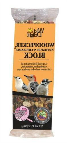 Wild Delight Woodpecker and Wild Bird Nut Block - 13 oz.