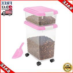 Large Pet Food Storage Container 3-Piece Airtight Bird Cat D