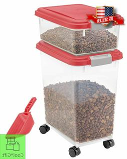 large pet food storage container 3 piece