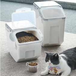 Large Plastic Pet Food Storage Container Airtight Bird Cat D