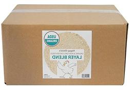 Layer Chicken Feed, Organic & Non-GMO, 25 lbs - Happy Chick'