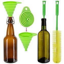 Long Bottle Brush, Justdolife 16 Inch Long Water Bottle Brus