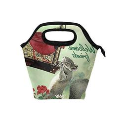 Lunch Bag Tote Handbag Neoprene Lunchbox Food Container Welc