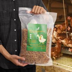 Non-GMO Dried Mealworms Fit Birds Chickens Fish Reptile Turt