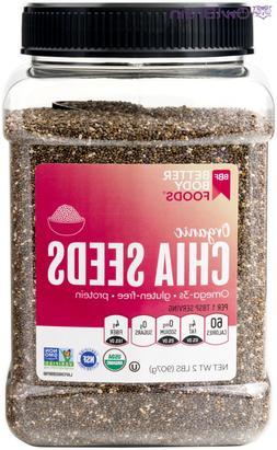 BetterBody Foods Organic Chia Seeds 32 oz
