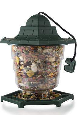 Outdoor Wild Bird Feeder Squirrel Proof Garden Seed Food Tre