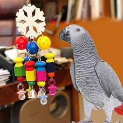 Borange Parrot Chewing Toys Parrot Knots Block Chew Toy with