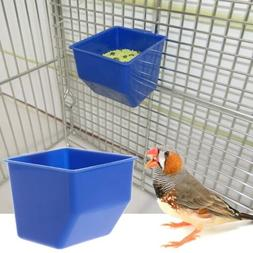 Parrot Food Water Drinking Bowl Bird Hanging Cups Pigeons Ca