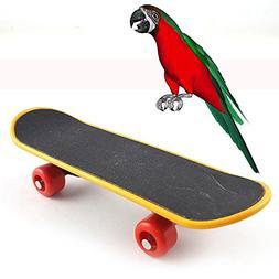 Hisoul Parrot Toys Fun Mini Training Skateboard Bird Parrot