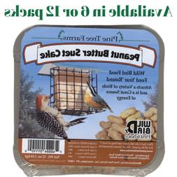 Pine Tree Farms Peanut Butter Suet Cake Wild Bird Food 12 oz