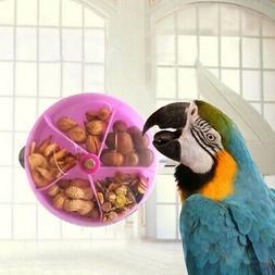 Pet Parrot Feeder Bite Toy Bird Wheel Foraging Food Puzzle F