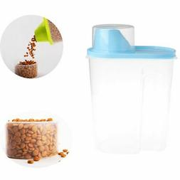 Pet Food Storage Container Animal Dry Cat Dog Bird Food Disp